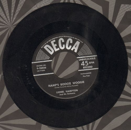Hampton, Lionel & His Orchestra - Hamp's Boogie Woogie/Tempo's Boogie - VG7/ - 45 rpm Records