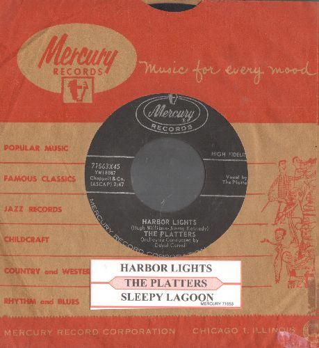 Platters - Harbor Lights/Sleepy Lagoon (with juke box label and Mercury company sleeve) - EX8/ - 45 rpm Records