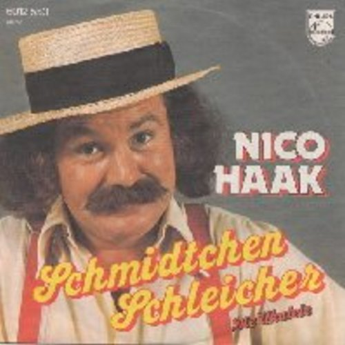 Haak, Nico - Schmidtchen Schleicher (mit den elastischen Beinen)/Die Ukulele (with picture sleeve) (German Pressing, sung in German) (This Novelty Record was the German Summer Hit of 1976!) - NM9/NM9 - 45 rpm Records