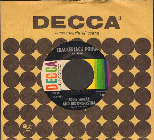 Habat, Eddie & His Orchestra - Cracker Jack Polka/Tiny Tim Polka (with vintage Decca company sleeve) - EX8/ - 45 rpm Records
