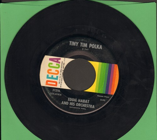 Habat, Eddie & His Orchestra - Tiny Tim Polka/Crackerjack Polka - EX8/ - 45 rpm Records