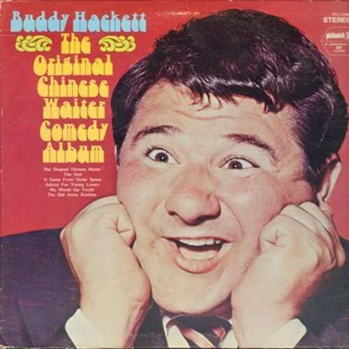 Hackett, Buddy - The Original Chinese Waiter - 1970s pressing of the Original 1956 Comedy Classic by the one-and-only Buddy Hackett (Vinyl STEREO LP record) - NM9/EX8 - LP Records