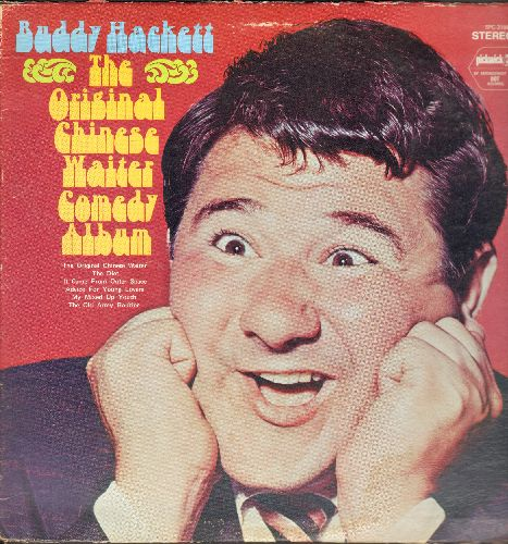 Hackett, Buddy - The Original Chinese Waiter Comedy Album: The Diet, It Came From Outer Space, The Old Army Routine, more! (vinyl LP record, re-issue of vintage recordings) - NM9/VG7 - LP Records