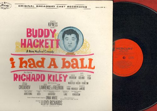 Hackett, Buddy - I Had A Ball: Origianal Broadway Cast Album (Vinyl MONO LP record) (gate-fold coverincludes color-picture album, NICE condition!) - NM9/NM9 - LP Records