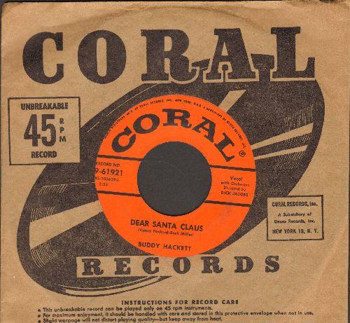 Hackett, Buddy - Dear Santa Claus/Funny Li'l Duck (with vintage Coral company sleeve) - EX8/ - 45 rpm Records
