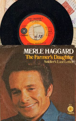Haggard, Merle - Soldier's Last Letter/The Farmer's Daughter (with picture sleeve) - NM9/VG7 - 45 rpm Records