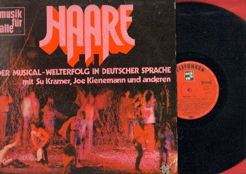 Haare (Hair) - Haare (Hair): Der Musical - Welterfolg in Deutscher Sprache (German Version of Boadway Hit Hair) (vinyl STEREO LP record) - NM9/EX8 - LP Records