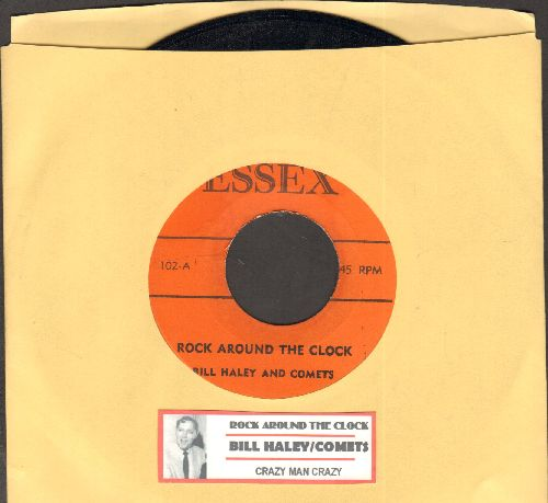 Haley, Bill & His Comets - Rock Around The Clock/Crazy Man Crazy (with juke box label) - NM9/ - 45 rpm Records