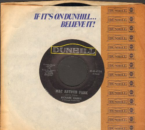 Harris, Richard - Mac Arthur Park (unedited 7:20 minute version!)/Didn't We (with Dunhill company sleeve) - EX8/ - 45 rpm Records