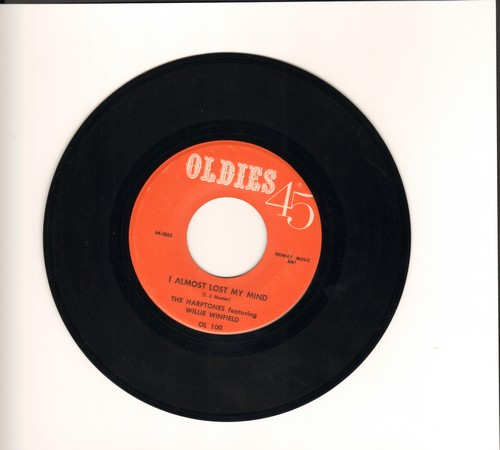 Harptones featuring Willie Winfiled - I Almost Lost My Mind/I Wanna Go Home (by The Dells on flip-side) (re-issue) - NM9/ - 45 rpm Records