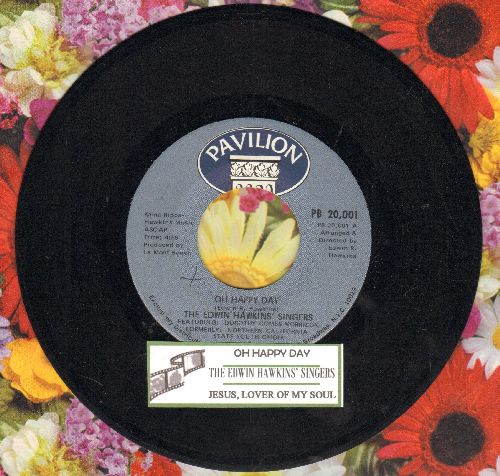 Hawkins, Edwin Singers - Oh Happy Day/Jesus Lover Of Soul (with juke box label) - NM9/ - 45 rpm Records