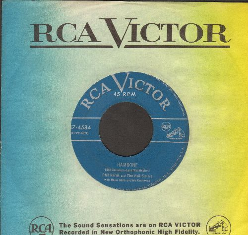 Harris, Phil - Hambone/Mam's On The Warpath (1952 first pressing with vintage RCA company sleeve) - VG7/ - 45 rpm Records