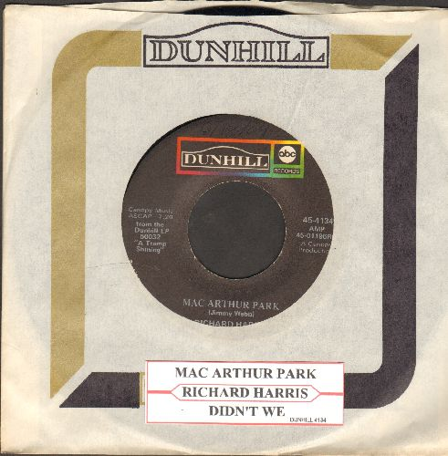 Harris, Richard - Mac Arthur Park (unedited 7:20 minute version!)/Didn't We (with juke box label and Dunhill company sleeve) - EX8/ - 45 rpm Records