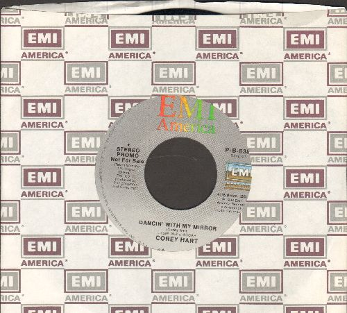 Hart, Corey - Dancin' With My Mirror (double-A-sided DJ advance pressing with EMI company sleeve) - NM9/ - 45 rpm Records