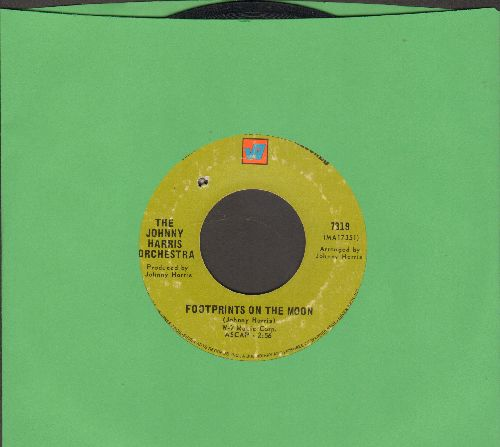 Harris, Johnny Orchestra - Footprints On The Moon/Lulu's Theme (bb) - VG7/ - 45 rpm Records