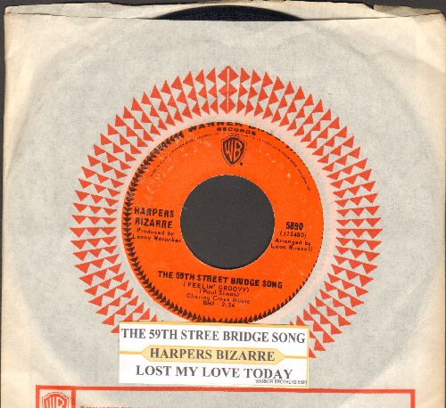 Harpers Bizarre - The 59th Street Bridge Song/Lost My Love Today (MINT condition with juke box label and Warner Brothers company sleeve) - M10/ - 45 rpm Records