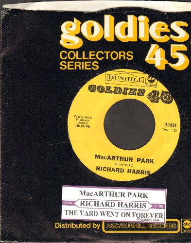 Harris, Richard - Mac Arthur Park/The Yard Went On Forever (re-issue with company sleeve and juke box label) - NM9/ - 45 rpm Records