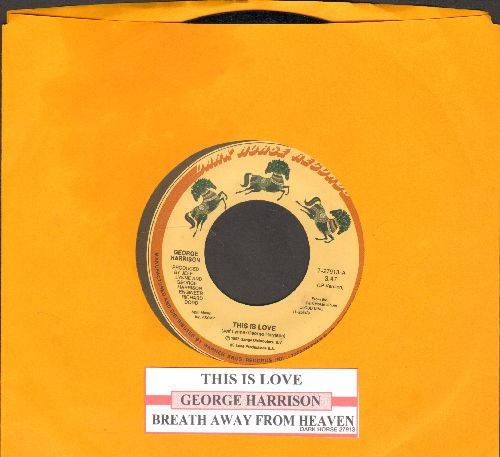 Harrison, George - This Is Love/Breath Away From Heaven (with juke box label) - NM9/ - 45 rpm Records