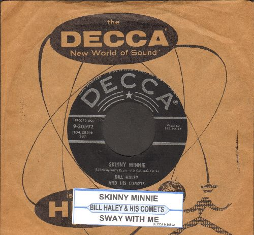 Haley, Bill & His Comets - Sway With Me/Skinny Minnie (with juke box label and vintage Decca company sleeve) - EX8/ - 45 rpm Records