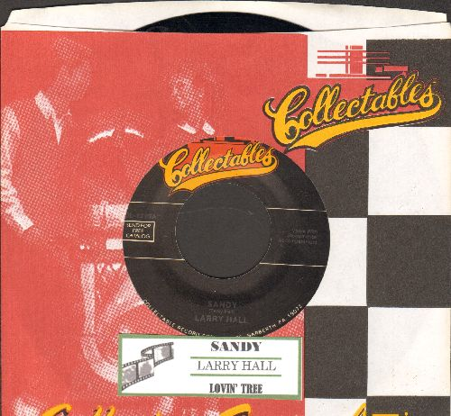 Hall, Larry - Sandy/Lovin' Tree (double-hit re-issue with juke box label and company sleeve) - M10/ - 45 rpm Records