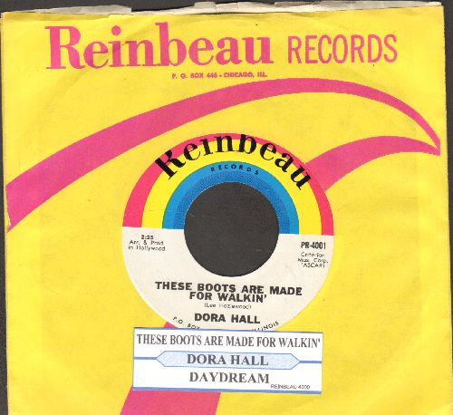 Hall, Dora - These Boots Are Made For Walkin'/Daydream (with juke box label and company sleeve) - NM9/ - 45 rpm Records