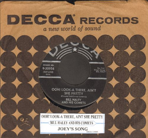 Haley, Bill & His Comets - Ooh! Look-A There, Ain't She Pretty/Joey's Song (silver lines/star label with original company sleeve and juke box label) - VG7/ - 45 rpm Records