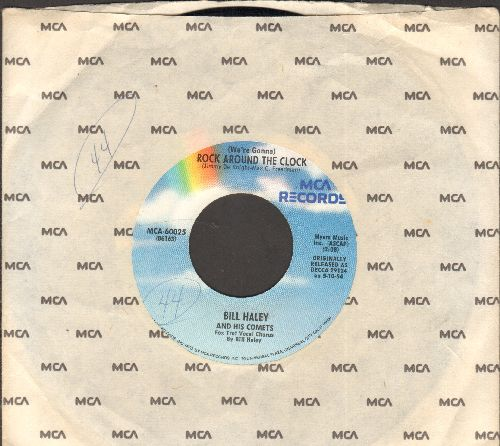 Haley, Bill & His Comets - Rock Around The Clock/Thirteen Women(re-issue with MCA company sleeve) - NM9/ - 45 rpm Records