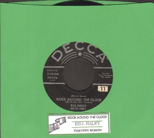 Haley, Bill & His Comets - Rock Around The Clock/Thirteen Women (first pressing with juke box label) - VG7/ - 45 rpm Records