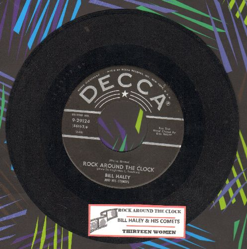 Haley, Bill & His Comets - Rock Around The Clock/Thirteen Women (black lable, star/lines, with juke box label) - VG7/ - 45 rpm Records