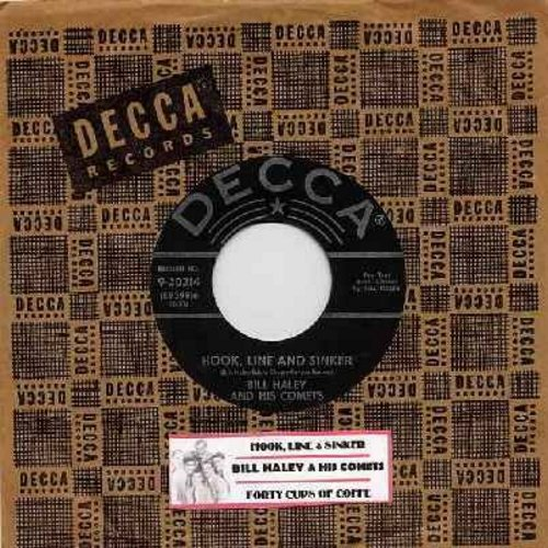 Haley, Bill & His Comets - Forty Cups Of Coffee/Hook, Line And Sinker (w/star label first issue with vintage Decca company sleeve) - EX8/ - 45 rpm Records