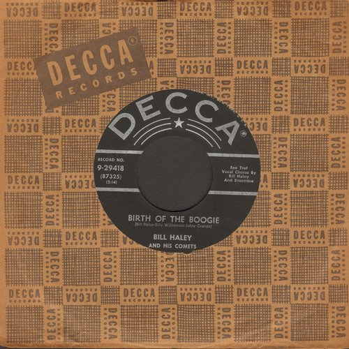Haley, Bill & His Comets - Birth of the Boogie/Mambo Rock (star/lines, with vintage Decca company sleeve) - EX8/ - 45 rpm Records