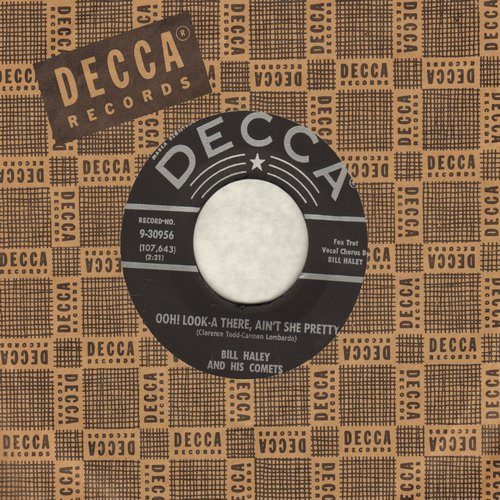 Haley, Bill & His Comets - Ooh! Look-A There, Ain't She Pretty/Joey's Song (silver lines/star label with original company sleeve) - EX8/ - 45 rpm Records
