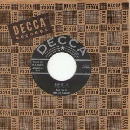 Haley, Bill & His Comets - Rip It Up/Teenager's Mother (with vintage Decca company sleeve) - VG7/ - 45 rpm Records