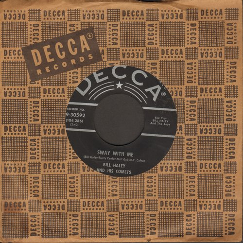 Haley, Bill & His Comets - Sway With Me/Skinny Minnie (with vintage Decca company sleeve) - EX8/ - 45 rpm Records