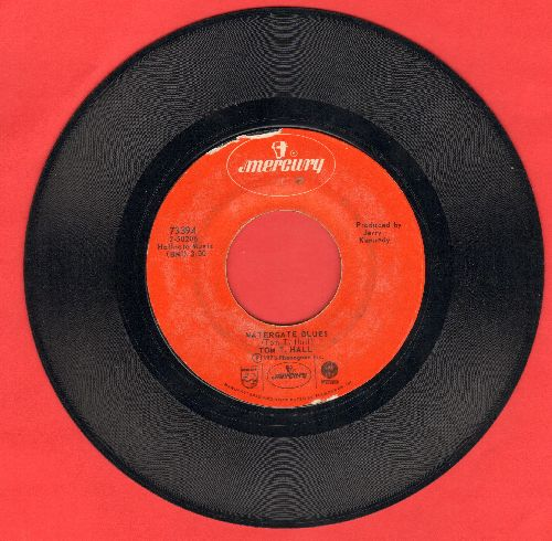 Hall, Tom T. - Watergate Blues/Spokane Motel Blues - EX8/ - 45 rpm Records