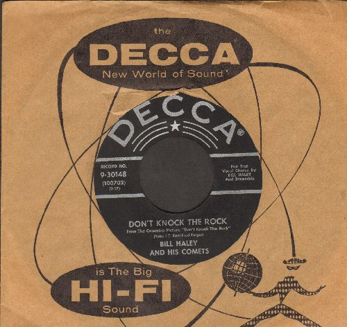 Haley, Bill & His Comets - Don't Knock The Rock/Choo Choo Ch'Boogie (NICE condition, with vintage Decca company sleeve) - NM9/ - 45 rpm Records