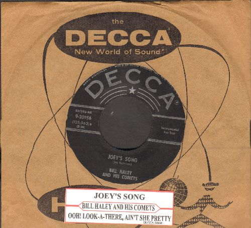 Haley, Bill & His Comets - Ooh! Look-A There, Ain't She Pretty/Joey's Song (silver lines/star label with original company sleeve and juke box label) - NM9/ - 45 rpm Records