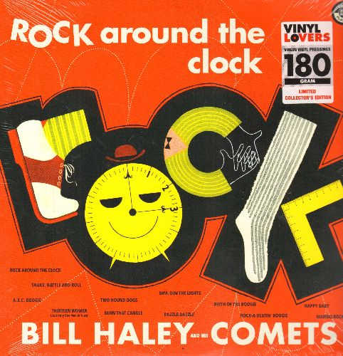 Haley, Bill & His Comets - Rock Around The Clock: See You Later Alligator, Shake Rattle And Roll, Mambo Rock, Birth Of The Boogie, Rock-A-Beatin' Boogie (180 gram Virgin Vinyl re-issue, EU pressing, SEALED, never opened!) - SEALED/SEALED - LP Records