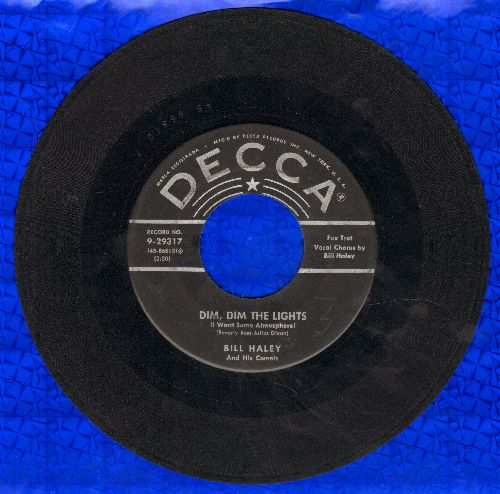 Haley, Bill & His Comets - Dim, Dim the Lights/Happy Baby (silver lines early issue) - VG6/ - 45 rpm Records