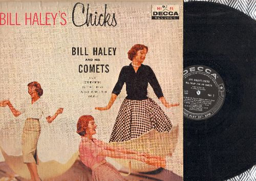 Haley, Bill & His Comets - Bill Hayley's Chicks: Whioa Mabel!, Eloise, Dinah, Skinny Minnie, Corrine Corrina, Charmaine, Marie (vinyl MONO LP record, 1959 first pressing) - VG6/VG7 - LP Records