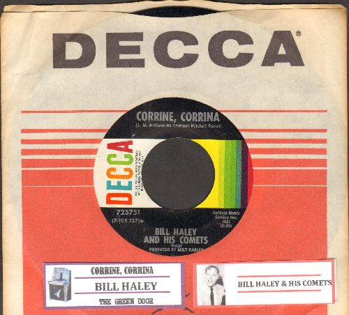 Haley, Bill & His Comets - Corrine, Corrina/The Green Door (with vintage Decca company sleeve and juke box label) - NM9/ - 45 rpm Records