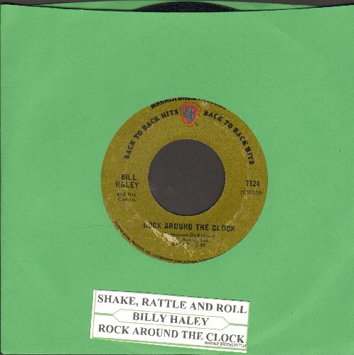 Haley, Bill & His Comets - Rock Around The Clock/Shake, Rattle And Roll (double-hit re-issue with juke box label) - VG7/ - 45 rpm Records