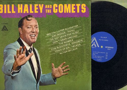 Haley, Bill & The Comets - Bill Haley & The Comets: See You Later Alligator, ABC Boogie, The Wobble, I've Got News For Hugh (Vinyl STEREO LP record) - NM9/EX8 - LP Records