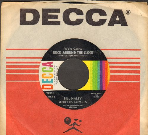 Haley, Bill & His Comets - Rock Around The Clock/Thirteen Women (1960s pressing with Decca company sleeve) - NM9/ - 45 rpm Records