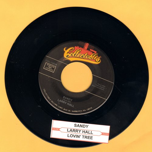 Hall, Larry - Sandy/Lovin' Tree (double-hit re-issue with juke box label) - M10/ - 45 rpm Records