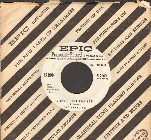 Hamilton, Roy - Since I Fell For You (DJ advance pressing with Epic company sleeve) - EX8/ - 45 rpm Records