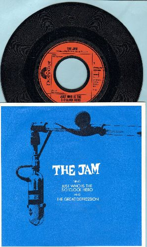 Jam - Just Who Is The 5 O'Clock Hero/The Great Depression (German Pressing with picture sleeve) - NM9/NM9 - 45 rpm Records