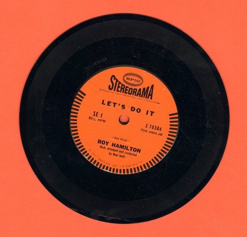 Hamilton, Roy - Let's Do It (FANTASTIC version of the Cole Porter Standard!)/Change Partners (RARE 7 inch 33rpm STEREO record with small spindle hole) - NM9/ - 45 rpm Records