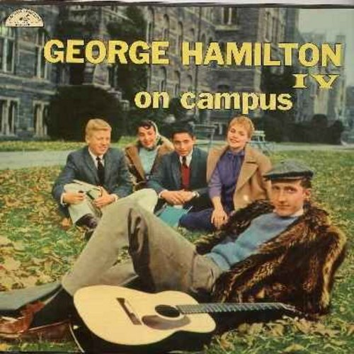 Hamilton, George IV - On Campus: Clementine, Ivy Rose, Carolina Moon, Girl Of My Dreams, Auld Lang Syne, Let Me Call You Sweetheart (vinyl MONO LP record, NICE condition!) - M10/NM9 - LP Records