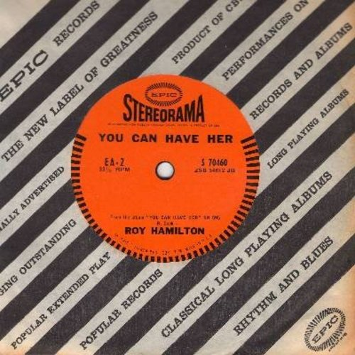 Hamilton, Roy - You Can Have Her/On My Way Home (RARE 7 inch 33rpm vinyl record in STEREORAMA with small spindle hole, with Epic company sleeve) - NM9/ - 45 rpm Records